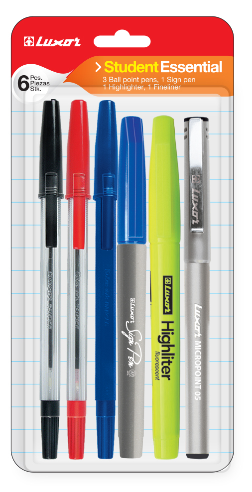 Pack Of 10 Luxor School Writing Pack 5-Pce